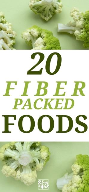Top 20 Fiber Foods